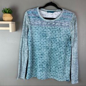 Prana long sleeve shirt teal size large